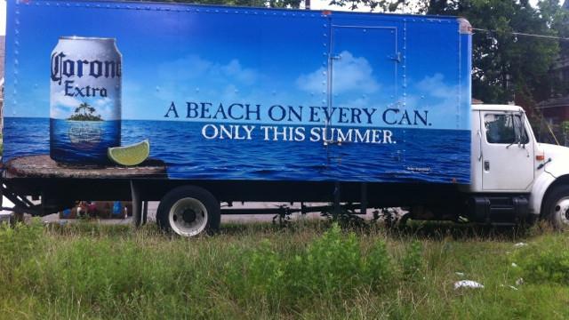 Corona Box Truck Wrap