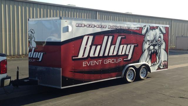 Bulldog Trailer Wrap