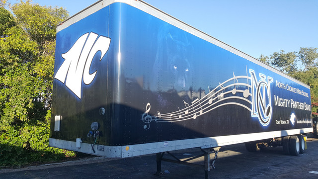 North Crowley Band Trailer Wrap