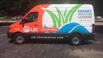 Lee Landscaping Van Wrap