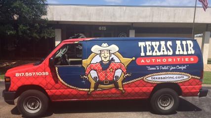 Texas Air Van Wrap