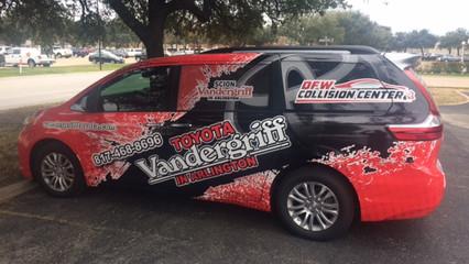 Vandergriff Toyota Vehicle Wrap