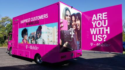 T Mobile Marketing Truck Wrap