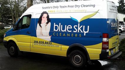 Blue Sky Van Partial Wrap