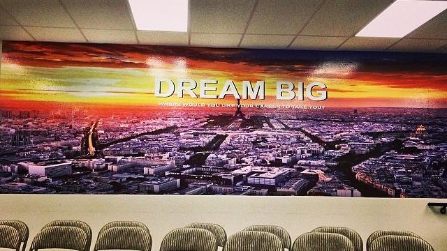 Dream Big Wall Wrap