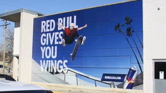 Red Bull Wall Wrap