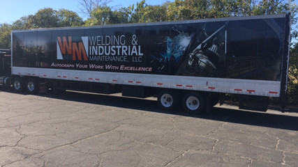 WM Welding Semi Trailer Wrap