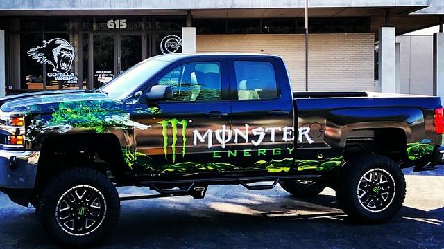 Monser Energy Truck Wrap