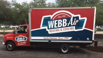 Webb Air Box Truck Wrap