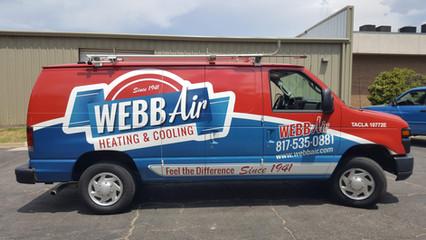Webb Air Fleet Van Wrap