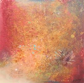 LIONFISH  acrylic on linen 91.5 cm x 91.5 cm