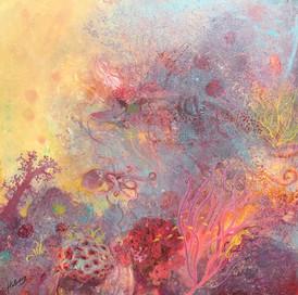 SHELTER Acrylic on canvas 91.5cm x 91.5cm