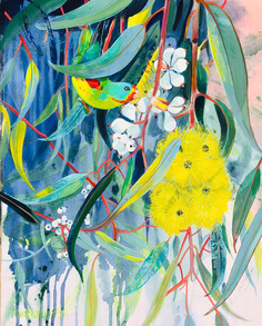 LEMON-FLOWERED GUM AND SWIFT PARROT