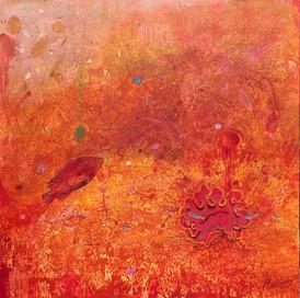 RESPLENDENT Acrylic on canvas 91.5cm x 91.5cm