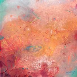 PHYTOPLANKTON Acrylic on canvas 91.5cm x 91.5cm