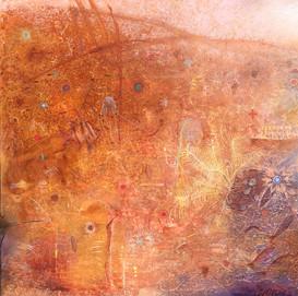 PRIMAL PRESENCE Acrylic on canvas 91.5cm x 91.5cm