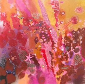 GLORIOUS  Acrylic on linen 61cm x 61cm