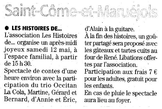 Midi Libre 7 mai 2018