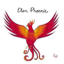 Elon Phoenix Illustration