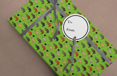 Whimsical Cat Wrapping Paper
