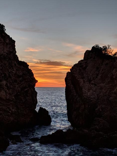 """""""Sunset Between Cliffs"""" Mallorca, Spain"""