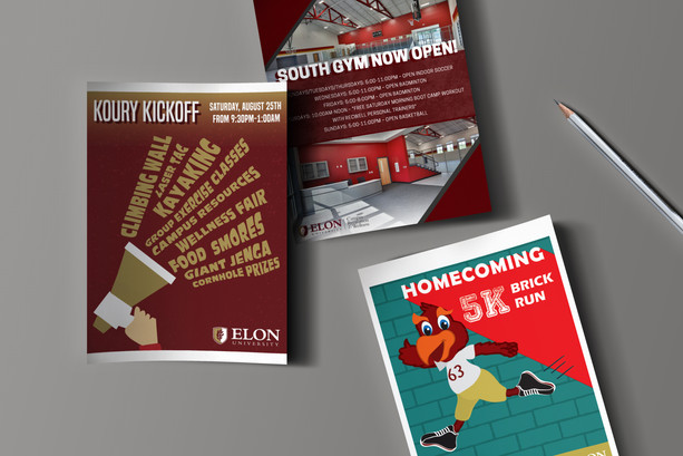 Elon Campus Recreation and Wellness Flyers