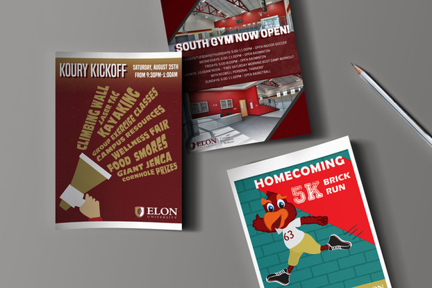Elon Campus Recreation Flyers and Posters