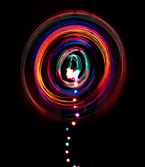 """Lollipop from Wonderland"" light painting"