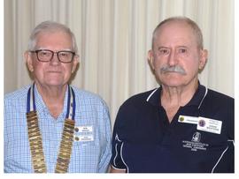 Bribie Island Probus Club has a new President