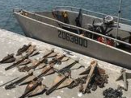 Energex divers pull 28 boat anchors from underwater high voltage Bribie Cable