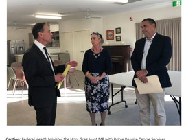TERRY YOUNG MP SAYS FIGHT FOR FEDERAL FUNDING FOR BRIBIE RESPITE CENTRE BEGINNING TO TAKE SHAPE!