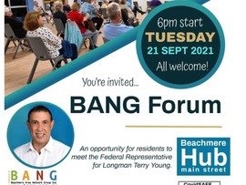 Terry Young to speak at Beachmere public forum
