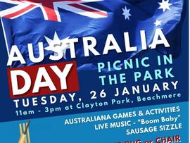 CELEBRATE AUSTRALIA DAY – IN THE PARK at Beachmere!
