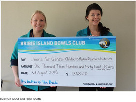 Bribie Island Bowls club raised money for Jeans for Genes Day