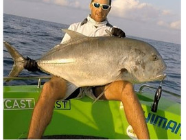 Giant Trevally or GT caught in our waterways! Anthony Cass