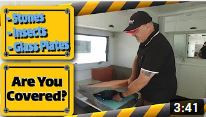 Stones, Insects & Glass Plates - Sunland Have Your Caravan Covered Inside & Out!