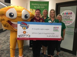 Queensland Children's Hospital Foundation are the real winners of the State of Origin Pie competitio