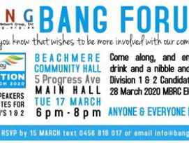 BANG to Host Division 1 & 2 Candidates – 17th March 2020