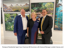 FEDERAL MEMBER FOR LONGMAN AND AGED CARE MINISTER VISITS MORAYFIELD AGED CARE FACILITY