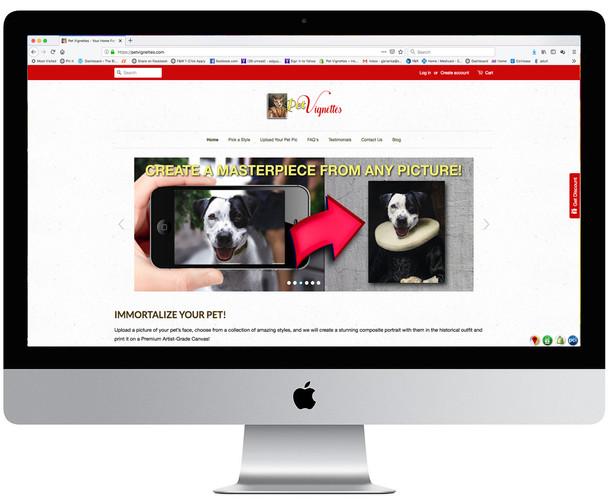 Pet Vignettes eCommerce Site