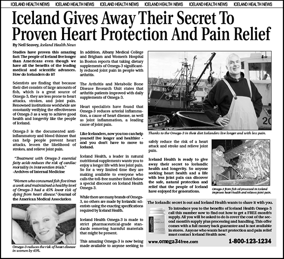 Iceland Health Advertorial