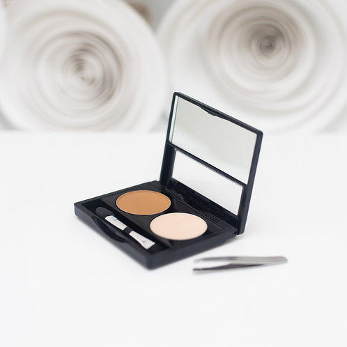 Brow Duo Travel Powder and Wax With Brush and Tweezers