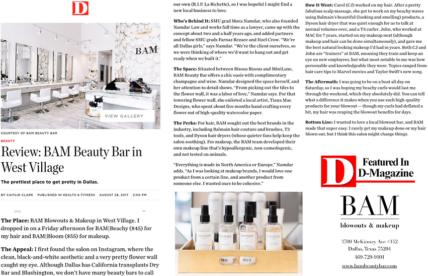 D magazine review BAM beauty bar