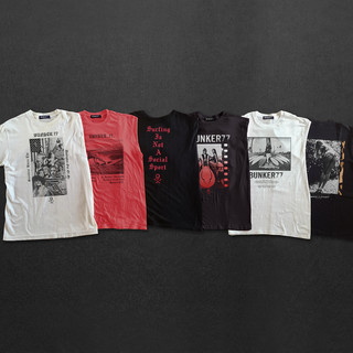 Bunker 77, Rough tee shirt print series /concepts for launch of the movie.