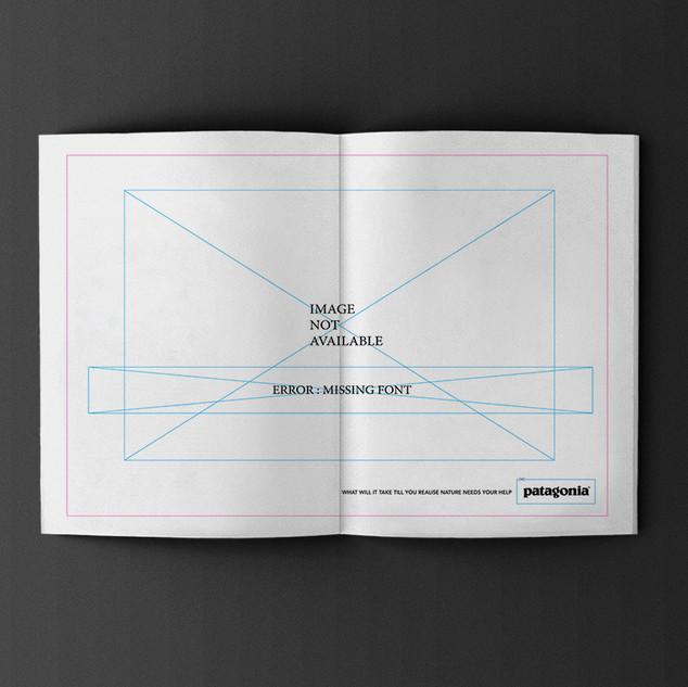 Patagonia, surf ad design, concept.
