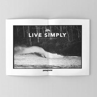 Patagonia, surf ad designs.