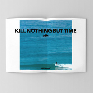 Patagonia, surf ad designs. quote from an unknown vegan protestor. a good quote to live by.