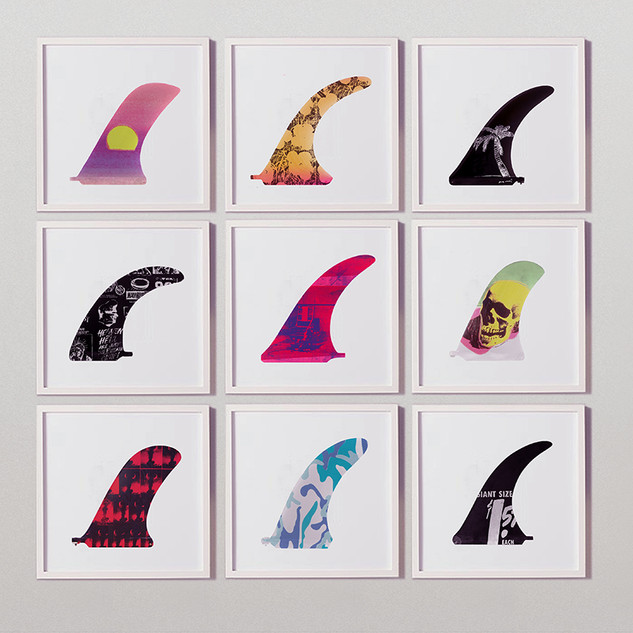 Andy Warhol x LAB (Billabong) Series. Original Concept of Warhol LTD fins.Featuring art from the initial collection i designed.