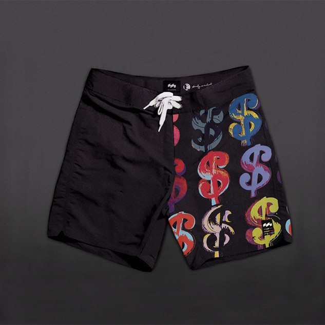 Andy Warhol x LAB (Billabong) Series. Original Concept of Warhol trunks series, Featuring art from the initial collection i designed.