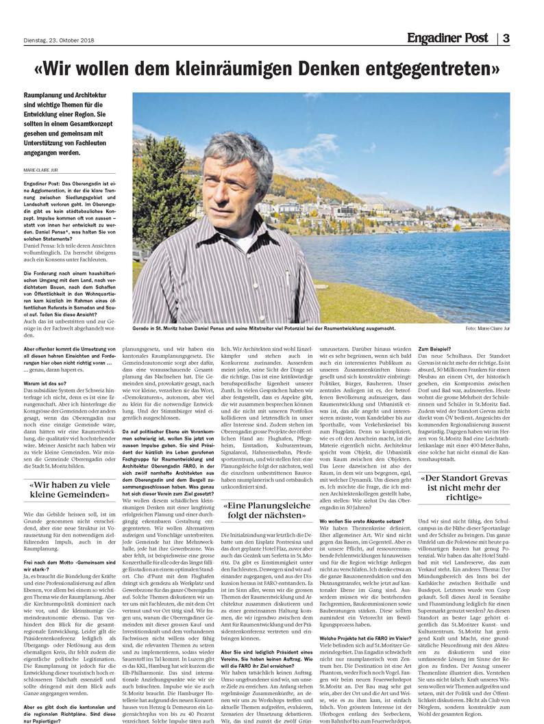 Interwiev Daniel Pensa 23.10.2018
